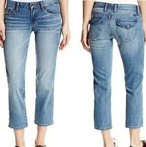 Lucky Brand Sweet Jean Crop flap pocket jeans